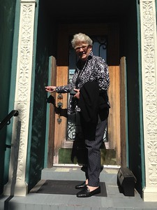 Susan knocks on the door as the surprise visitor direct from Australia