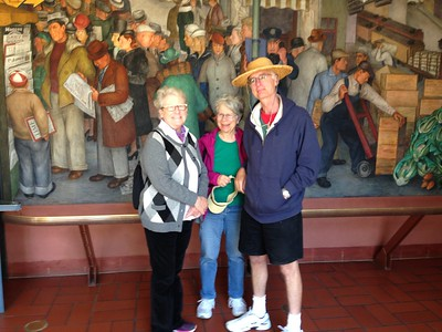 Coit Tower, best known for its wonderful murals.
