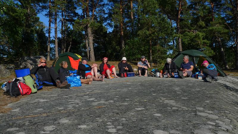 Hela gruppen utom fotografen Ulf: Agne, Malin, Peter, Ewa, Alice, Francis, Kerstin, Rolf och Lars.