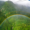 Double Rainbow from Fansipan Legend Cable Car