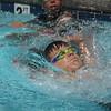 Ian doing backstroke.