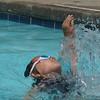Piper doing the back stroke.
