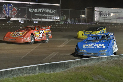 Don O'Neal (5), Rick Eckert (7E), and Frank Heckenast, Jr. (99)