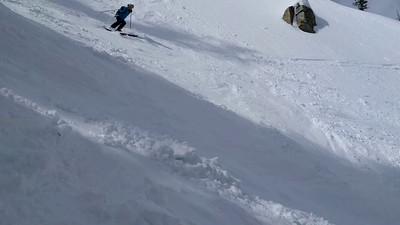 Skiing Air Force chute.