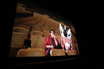 Chancellor Rebecca Blank and Bucky Badger welcome us to the 2016 Wisconsin Film Festival!
