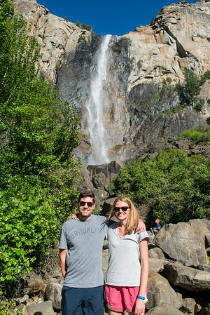 Good sports posing for me at Bridalveil