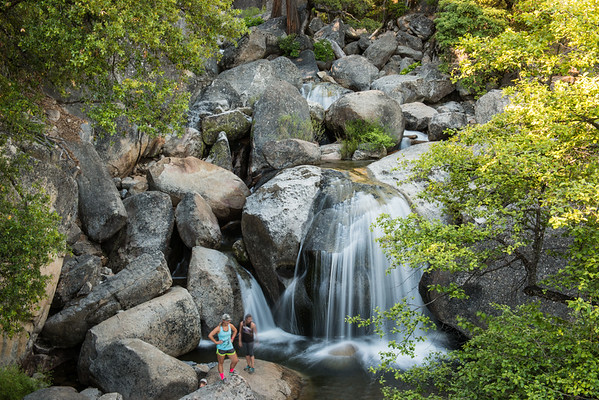 Despite all the water this year, Cascade Falls wasn't gushing as much as previous years.