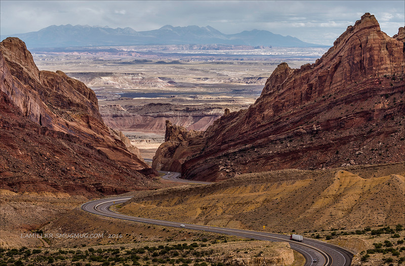 I-70 Winding Down Spotted Wolf Canyon, Utah