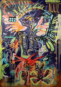 234 - Xerxes and the 3 priests - 200x130cm