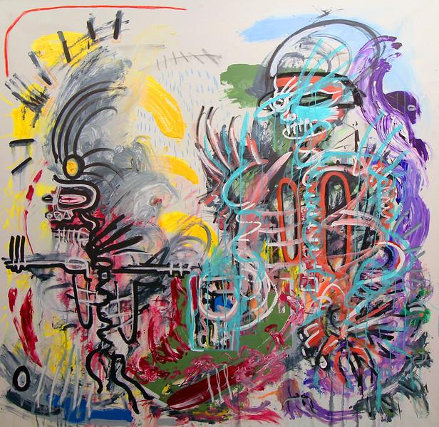 221 - Thy devour - 170x170cm