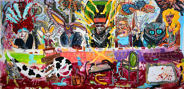 249 - The hatmakers tea-party - 400x200cm