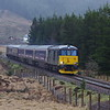 73967 near Lower Tyndrum working the 13:02 Polmadie - Oban 21/02/16