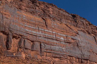 Thunderbird Pattern on wall along the Colorado River, Utah near Moab.