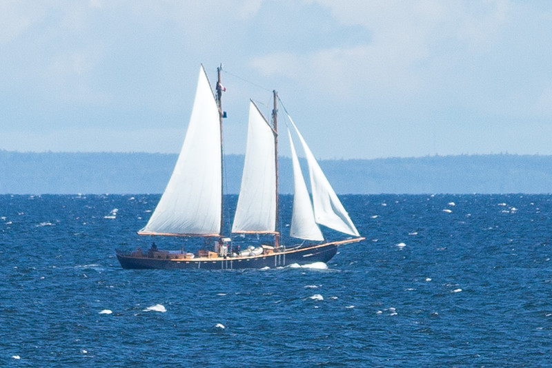 SCHOONER KATIE BELLE LEAVING PUGWASH