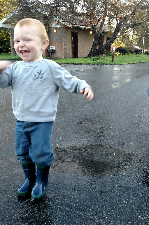 Playing in puddles!