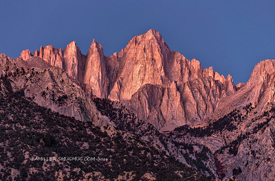Seconds Before Sunrise: Mt. Whitney - 2016