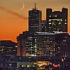 Boston at sunset 4 Aug, 2016.