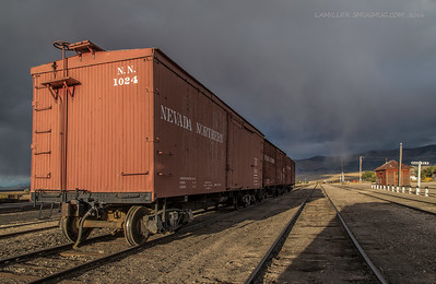 Three Boxcars on a Siding - East Ely, Nevada