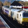 67012 arrives at Aviemore with the 20:57 London Euston - Inverness 11/04/16