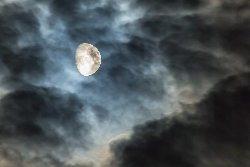 AUGUST MOON AND CLOUDS