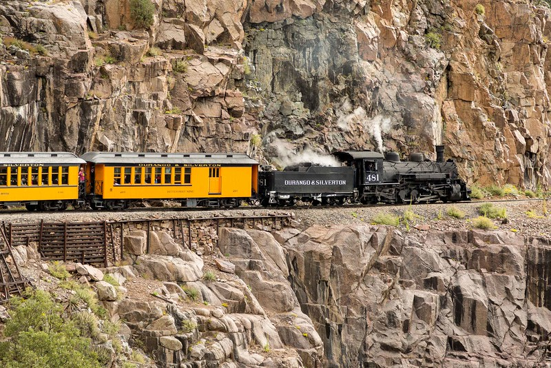 DURANGO & SILVERTON NARROW GAGE RAILROAD, FOLLOWING THE ANIMAS CANYON