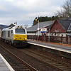 67012 arrives at Aviemore working the 21:15 London Euston - Inverness 30/03/16