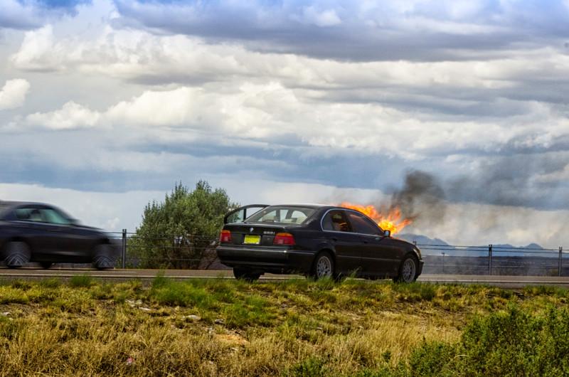 Bernalillo Car Fire