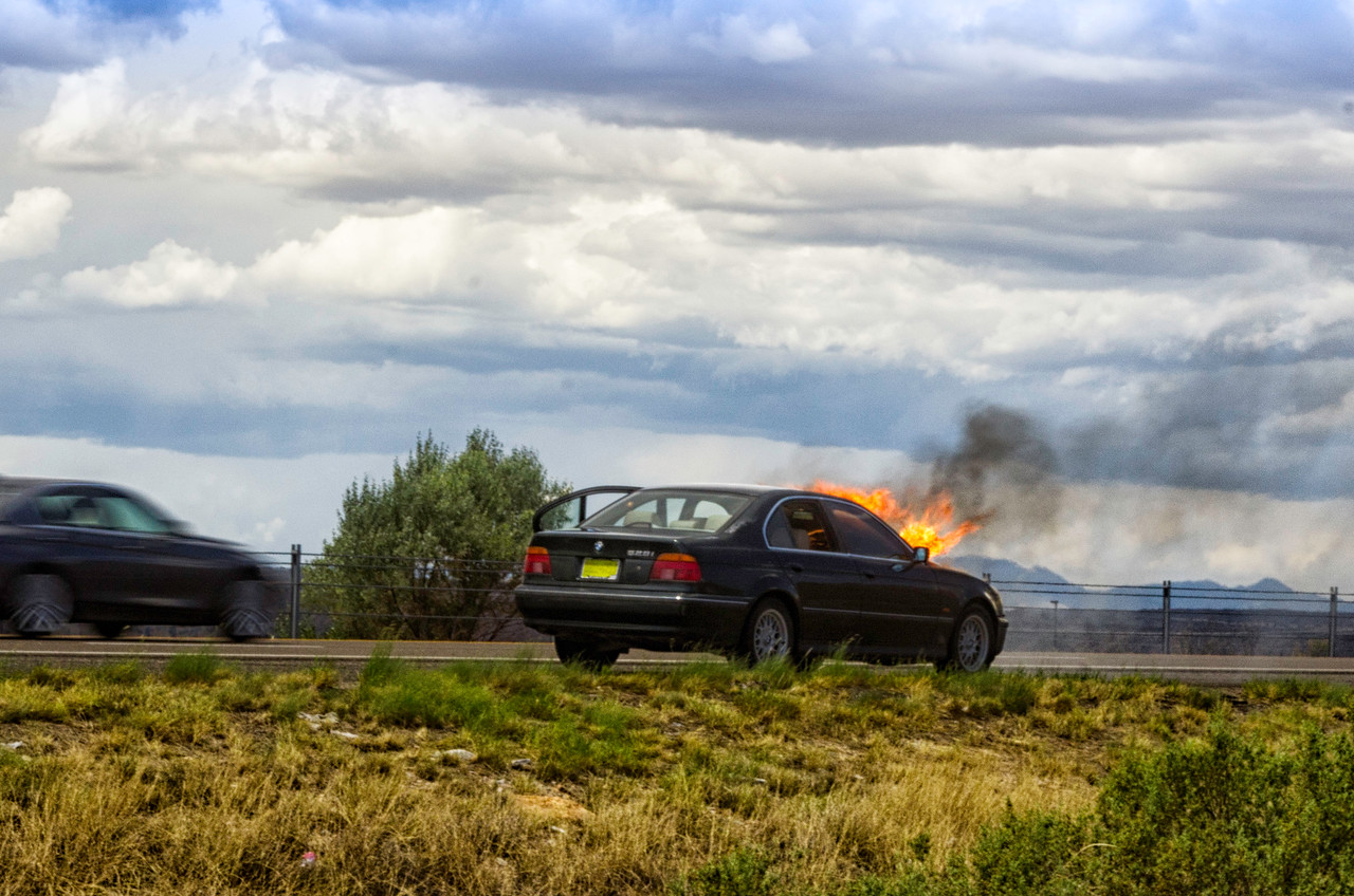Bernalillo Car Fire