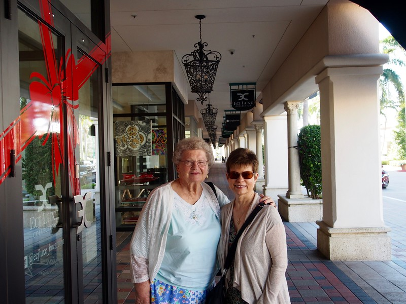 A Christmas tradition when visiting Mom; a walk around Mizner Center in Boca Raton.