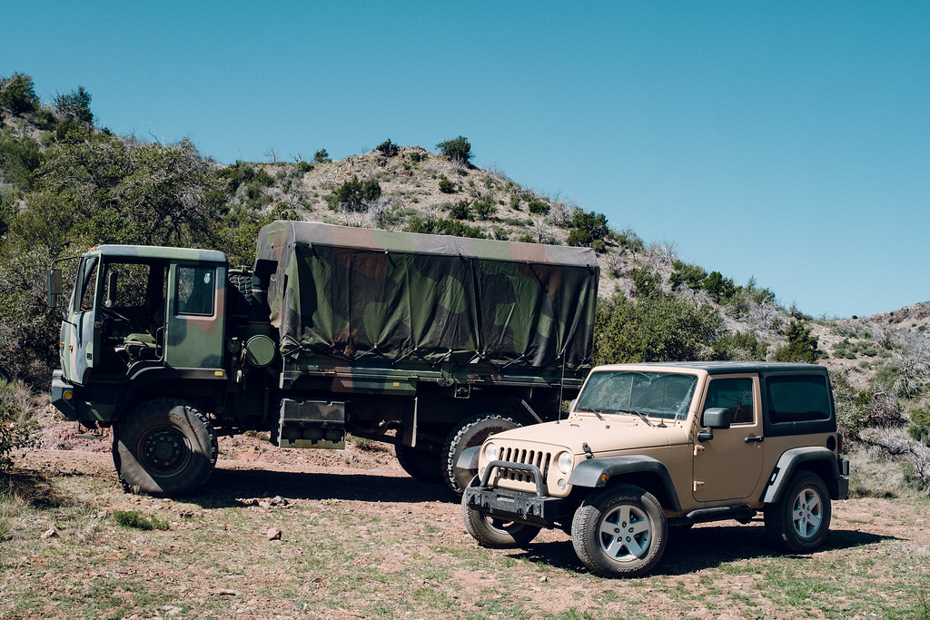 LMTV and Jeep