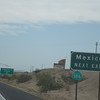Mexico Next Exit - you can see the boarder from the highway