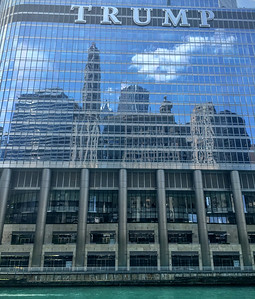 Enjoying the cityscape in Chicago.