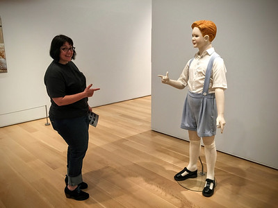Goofing off at the Art Institute of Chicago.
