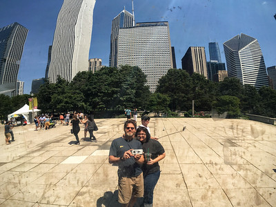 Reflective self portrait courtesy of the Bean in Chicago.