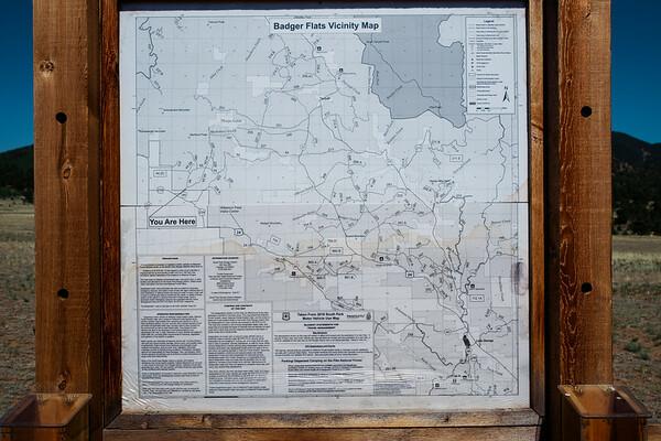 Badger Flats Map