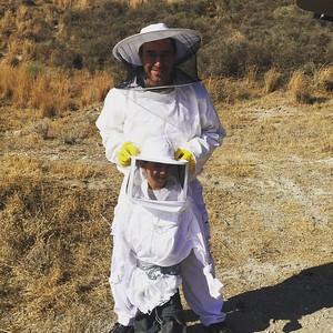20160731 harvesting honey in Santorini