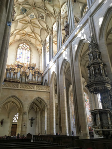 St Barbaras Church, a great gothic cathedral in Kutna Hora, Czech Republic.