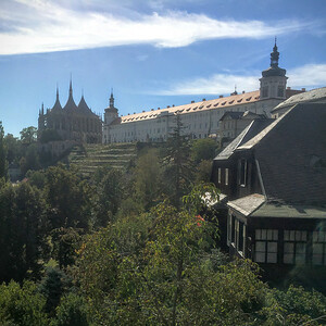 View of St Barbaras Church in Kutna Hora, Czech Republic.