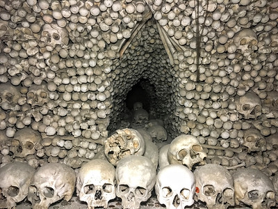 The Sedlec Ossuary in Kutna Hora, Czech Republic.