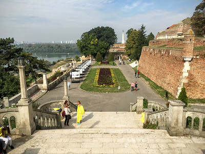 The Kalemegdan Citadel in Belgrade, Serbia