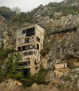 An old abandonded mine on the banks of the Danube near the Iron Gates in Serbia.