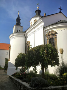 An old Orthodox church within Krusedol Monastery in Fruska Gora, Serbia.