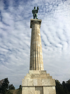 The Victor monumemt commemorating Serbia's victory during the Balkan Wars, in Kalemegdan Citadel in Belgrade, Serbia.