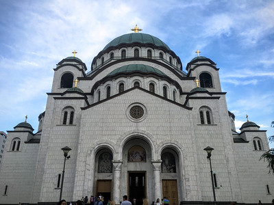 The unfinished St Sava Temple in Belgrade, Serbia.