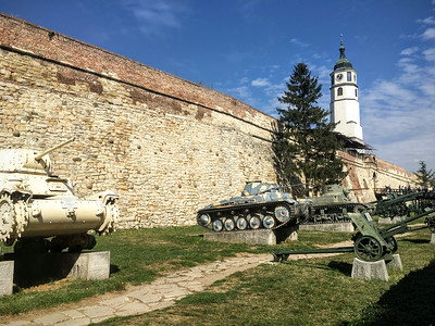 Outside the Military Museum in Kalemegdan Citadel in Belgrade, Serbia.