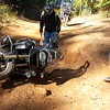 Yeager takes a tumble on Larmon Forks Offroad Trail