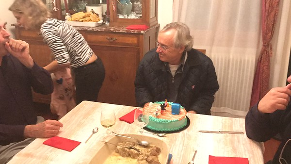 2016-11-12 Annual pasta party and dad birthday