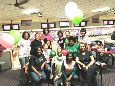 2016-12-03 Pink Pearl/Green Pearl Bowling Night