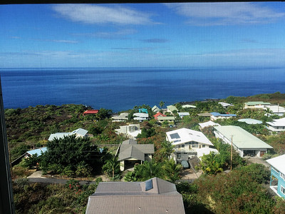 View from the lanai in Kona Kai Paradise, Hawaii.