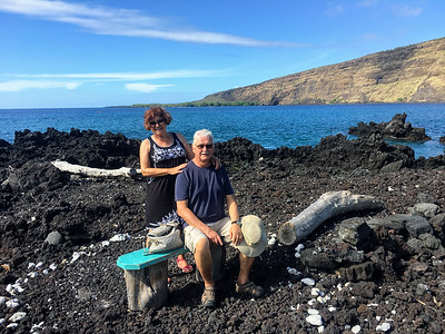 Wandering around Napoopoo Park where we saw whales and dolphins in Kealakekua Bay.